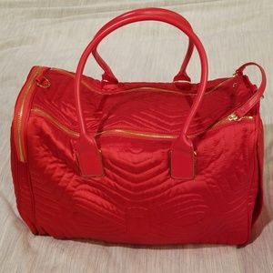 💕Ted Baker💕 Red Nylon Quilted Bow Dog Carrier